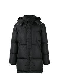 Abrigo de plumón negro de MSGM