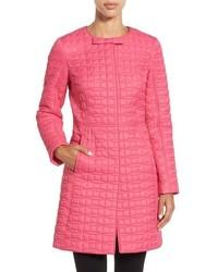 Abrigo de plumón rosa de Kate Spade