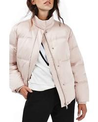 Abrigo de plumón rosado de Topshop