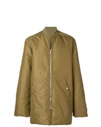 Abrigo de plumón verde oliva de Rick Owens
