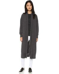 Abrigo de punto en gris oscuro de DKNY