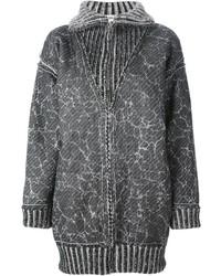 Abrigo de punto en gris oscuro de Jean Paul Gaultier