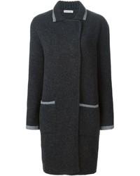 Abrigo de punto en gris oscuro de Tomas Maier