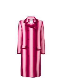 Abrigo de rayas verticales rosa de Moschino