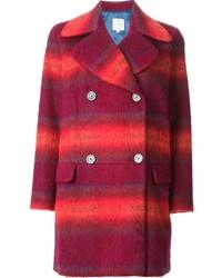 Abrigo de tartán rojo