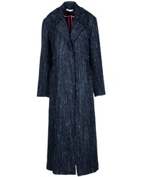 Abrigo de tweed azul marino