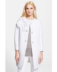 Abrigo de tweed blanco de Kate Spade