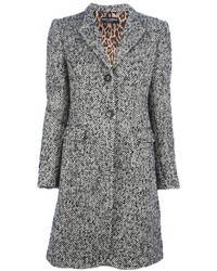 Abrigo de tweed gris