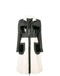 Abrigo en negro y blanco de Elisabetta Franchi