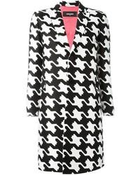 Abrigo estampado en blanco y negro de Dsquared2