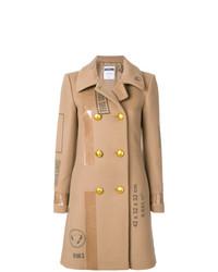 Abrigo estampado marrón claro de Moschino