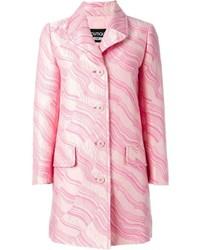 Abrigo estampado rosado