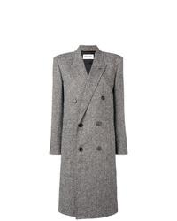 Abrigo gris de Saint Laurent