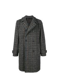 Abrigo largo a cuadros en gris oscuro de Stella McCartney