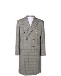 Abrigo largo a cuadros gris de Calvin Klein 205W39nyc
