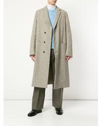 Abrigo largo a cuadros gris de Jil Sander