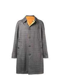 Abrigo largo a cuadros gris de Lanvin