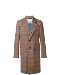 Abrigo largo a cuadros marrón de Vivienne Westwood