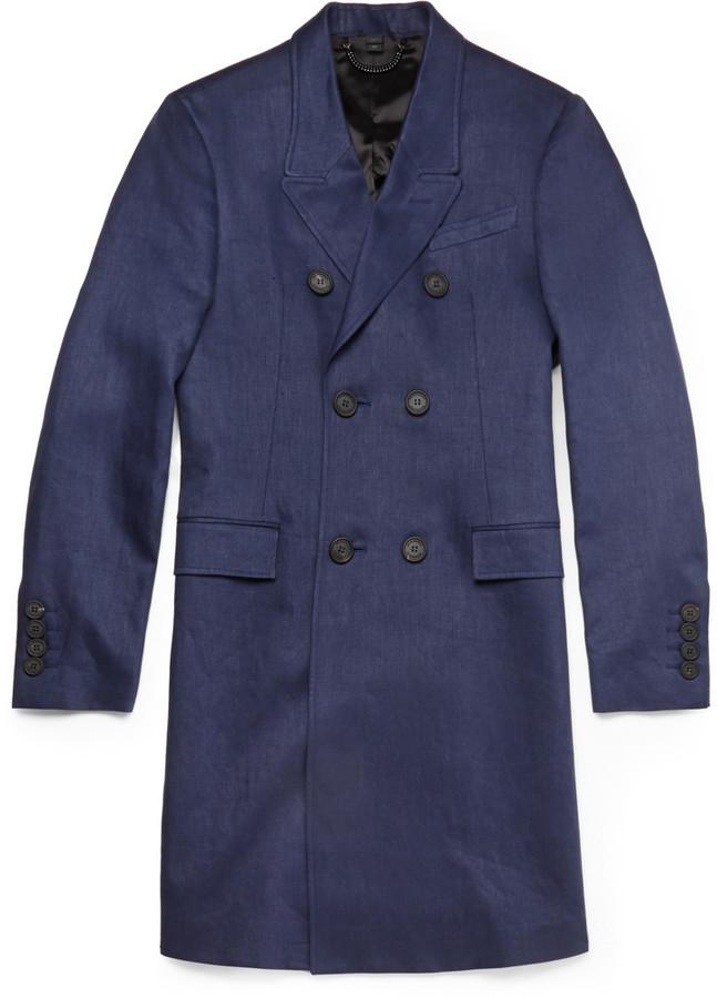 Abrigo largo azul marino de Burberry