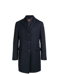 Abrigo largo azul marino de Corneliani
