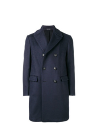 Abrigo largo azul marino de Emporio Armani
