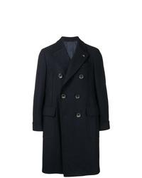 Abrigo largo azul marino de Gabriele Pasini