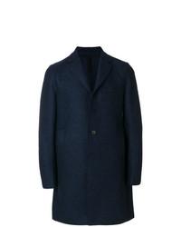 Abrigo largo azul marino de Harris Wharf London