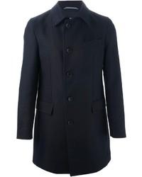 Abrigo largo azul marino de Hugo Boss