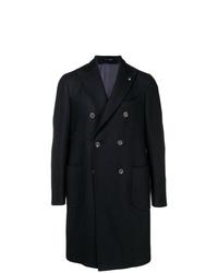 Abrigo largo azul marino de Lardini