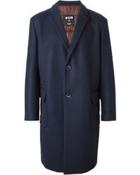 Abrigo largo azul marino de MSGM