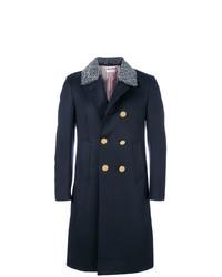 Abrigo largo azul marino de Thom Browne