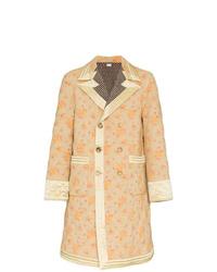 Abrigo largo con print de flores en multicolor de Gucci