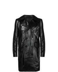 Abrigo Largo de Cuero Negro de Givenchy
