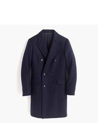 Abrigo largo de espiguilla azul marino