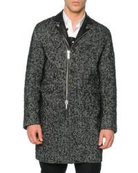 Abrigo largo de espiguilla en gris oscuro de DSQUARED2