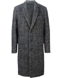 Abrigo largo de espiguilla gris de Ami