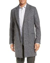 Abrigo largo de espiguilla gris de Billy Reid