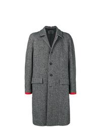 Abrigo largo de espiguilla gris de Hilfiger Collection