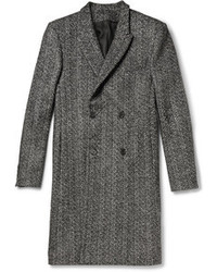 Abrigo largo de espiguilla gris de Public School