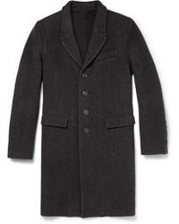 Abrigo largo en gris oscuro de Burberry
