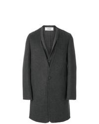 Abrigo largo en gris oscuro de Chalayan