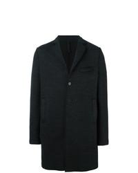 Abrigo largo en gris oscuro de Harris Wharf London