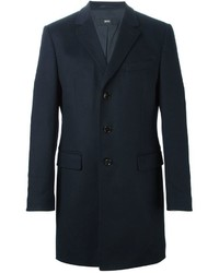 Abrigo largo en gris oscuro de Hugo Boss