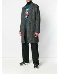 Abrigo largo en gris oscuro de Kenzo