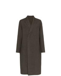 Abrigo largo en gris oscuro de Rick Owens