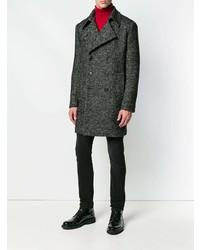 Abrigo largo en gris oscuro de Saint Laurent