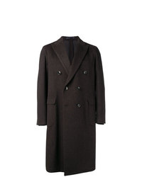 Abrigo largo en marrón oscuro de Bagnoli Sartoria Napoli