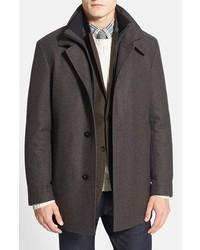 Abrigo largo en marrón oscuro de BOSS