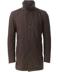 Abrigo largo en marrón oscuro de Herno