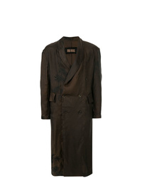 Abrigo largo en marrón oscuro de Uma Wang